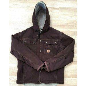 Carhartt Mens Sherpa Lined Sandstone Brown Jacket